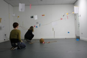 Installation draft with MA students (image: Kerry Allsop and Prof. Whatley)